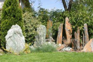 Teliház bemutató kert
